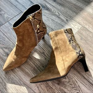 NEW GEOX Suede Snakeskin Boots